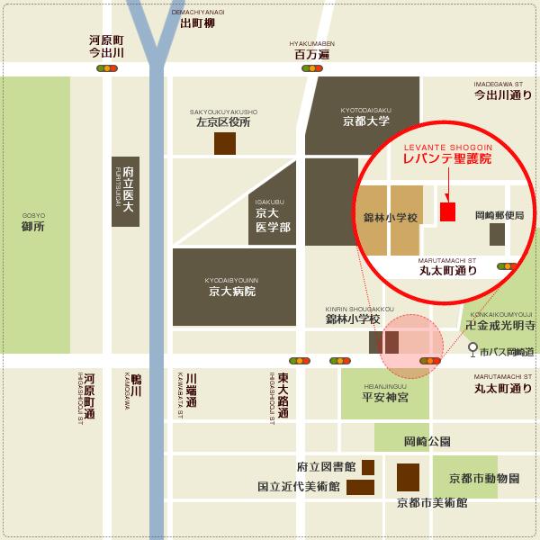 レバンテ聖護院 周辺地図