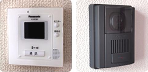 <安心>ハンズフリー通話機能カラーテレビ・ドアホン